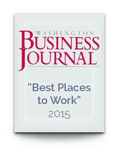 WBJ accolade Best Places to Work Award 2015